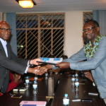 The handover ceremony between new and former Executive Committees was held yesterday evening.