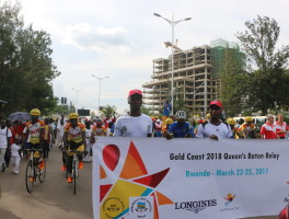 The Queen's Baton Relay Walk to inspire the Rwandan Sports movement.