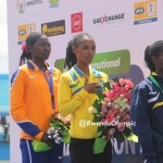 Kigali Peace Marathon 2017: Nyirarukundo struk gold in women half marathon.