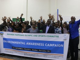 Rwanda National Olympic committee launches environmental protection drive.