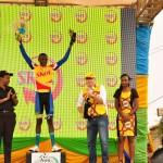 Rider Nsengimana gives Rwanda a good start.