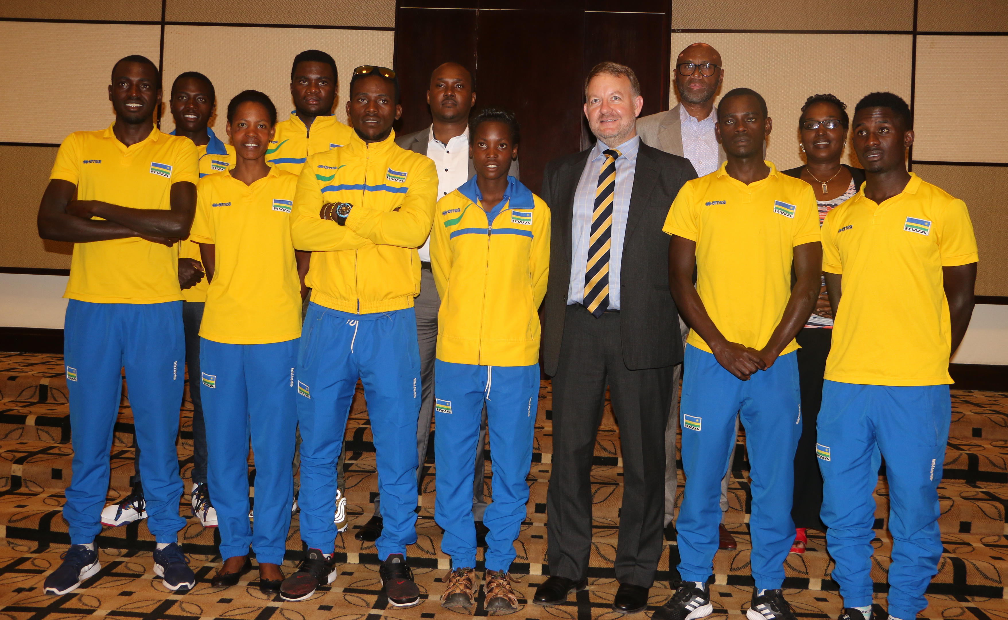 76a870f0e The cycling team that will represent the country in Commonwealth Games next  month.